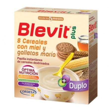BLEVIT PLUS DUPLO 8 CEREAL+MIEL+GA
