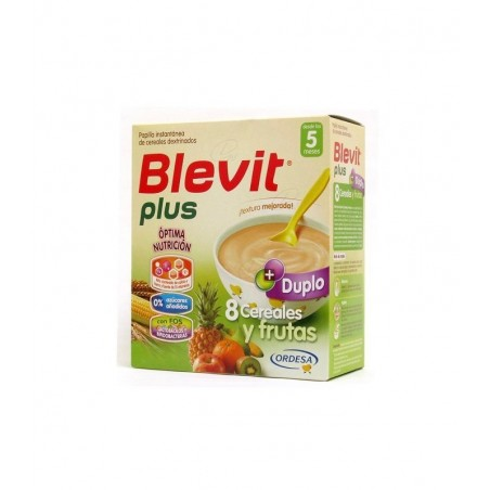BLEVIT PLUS DUPLO 8 CEREAL+FRUTAS