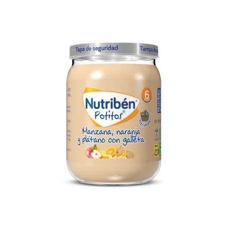 NUTRIBEN MANZANA NARANJA PLATANO Y GALLETA POTITO 235 G
