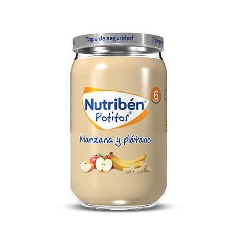 NUTRIBEN ECOPOTITOS PLATANO MANZANA 235 G